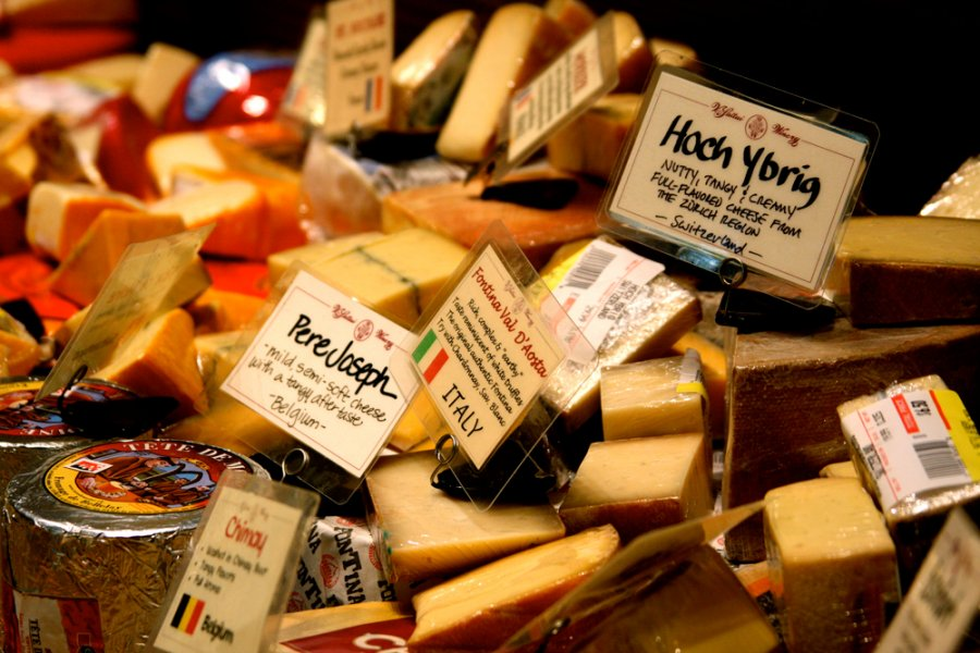 Over 200+ cheeses